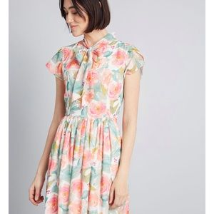 Midi Floral Dress with Pockets